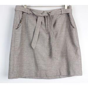 Tommy Hilfiger Belted Fringe Detail Casual Skirt